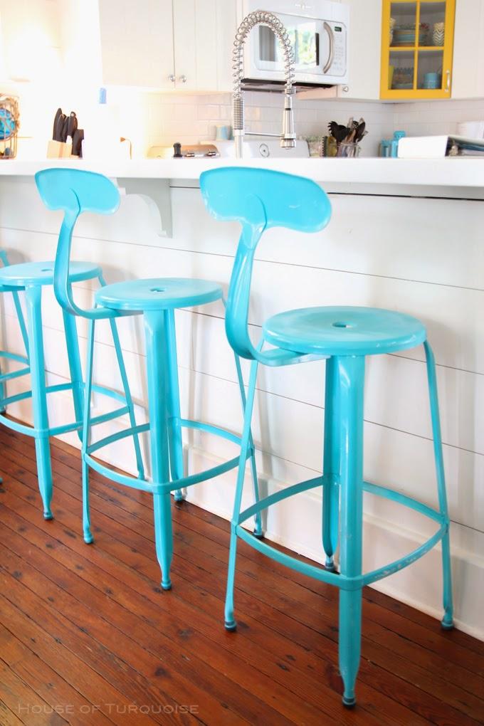 Magnificient Turquoise Bar Stools Design Decohoms