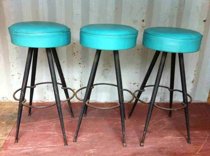 Classic Nice Adorable Small Turquoise Bar Stool With