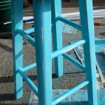 Creative Classic Adorable Nice Turquoise Bar Stool With Wood Made Concept And Has Four Legs With Round Surface Seat 728x1292