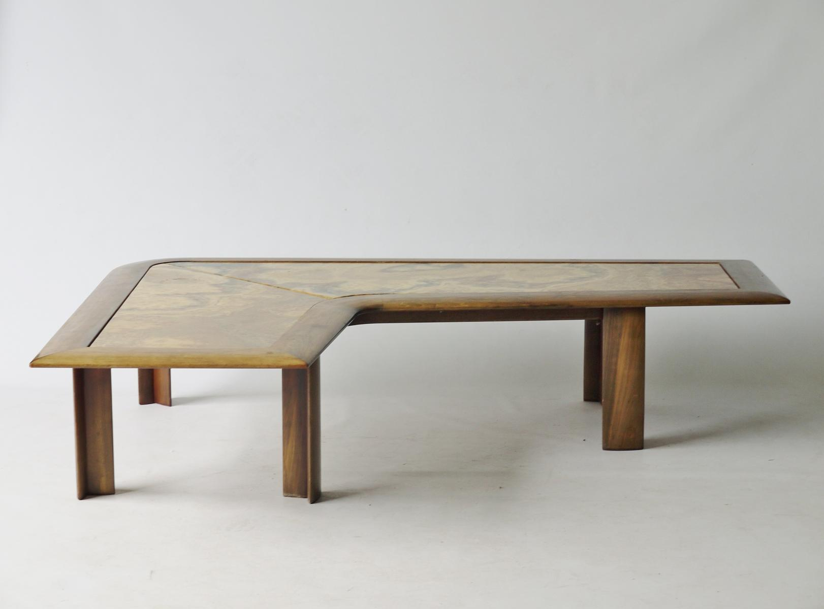 1970s L shaped coffee table