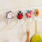 animal and flowery removable wall hooks