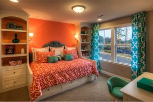 bedding with coral comforter coral and turquoise pillow
