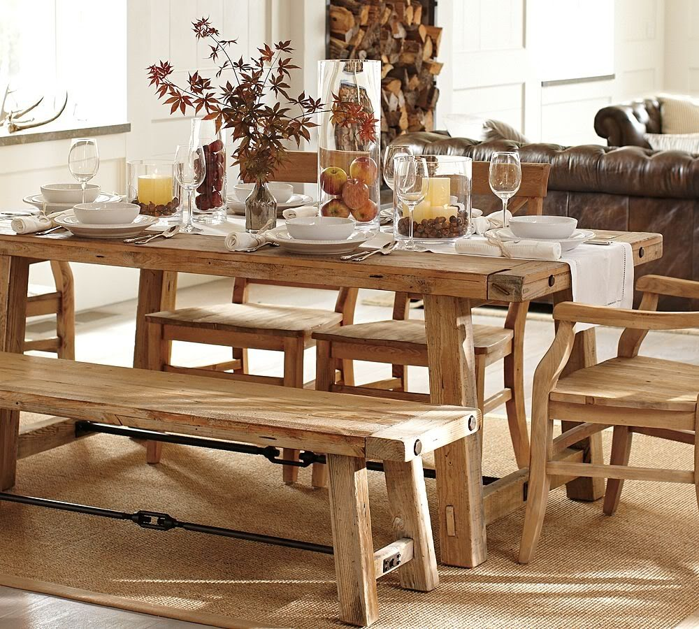 Benchwright Wooden Extending Dining Table Benches