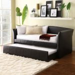 Black And White Two Level Loveseat