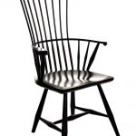 black painted vintage modern windsor chair