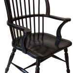 black painted wood windsor chair