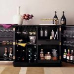 Black Wooden Liquor Bar And Cabinet IKEA
