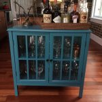 Blue Liquor Cabinet Ikea Wooden With Tray For Small Home