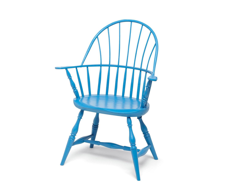 Blue Round Modern Windsor Chair
