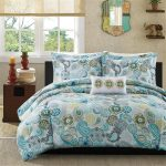 blue white flowers bedding