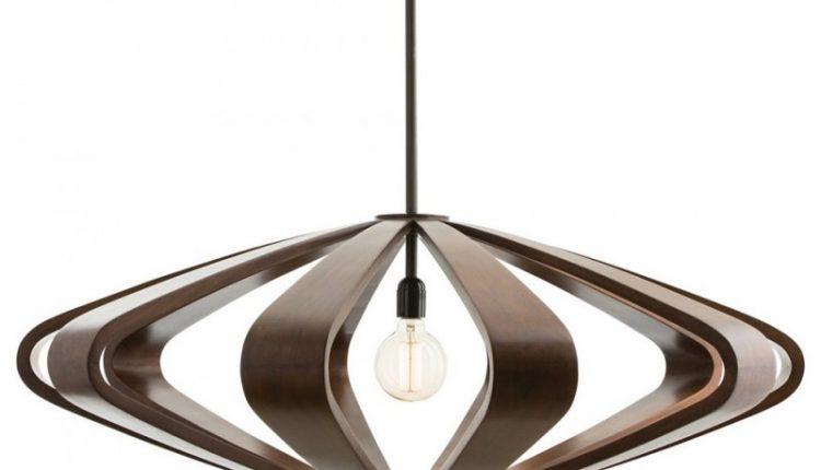 brown silhoutte effect pendant lamp