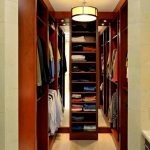 Brown Small Vertical Closet For Small Space