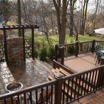 Brown Wooden Privacy Deck Railing
