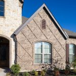 buff brick wall custom wall exterior glass window traditional style