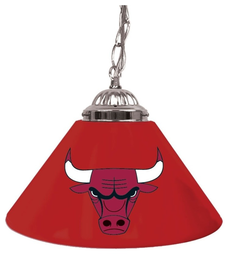 chicago bulls red metal pendant lamp