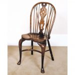 classic accent brown wooden windsor chair