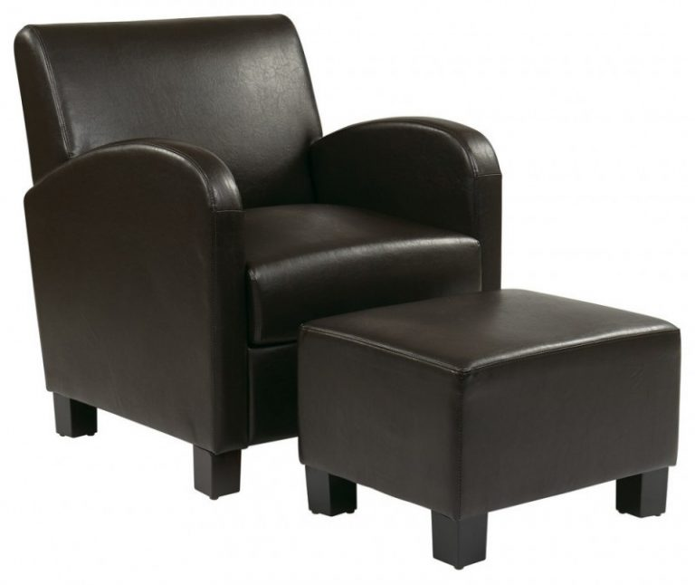Durable Leather Club Chair And Ottoman Ideas For