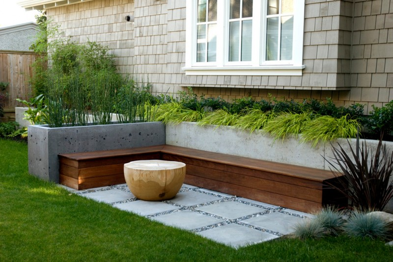 contemporary modern planter box