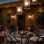 Contemporary Outdoor Lightinghanging Lanterns Dining Chair Dining Table Wood Wall Wall Lamp Bench
