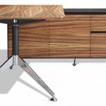 Customized Wooden Office Desk Elegant Patterned Desk Large Panel Storage Stainless Steel Desk Legs