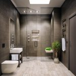 dark marble wall light marble floor ceiling shower contemporary designed towel rack glass slide