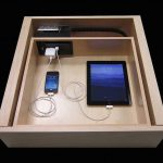 efficient inside drawer nightstand charging station