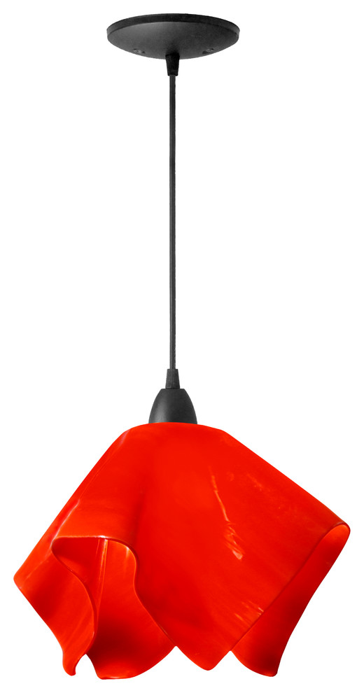 fiery red petal lamp
