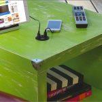 Fun Green Nightstand Charging Station