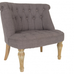gey simple one and a half chair with high back