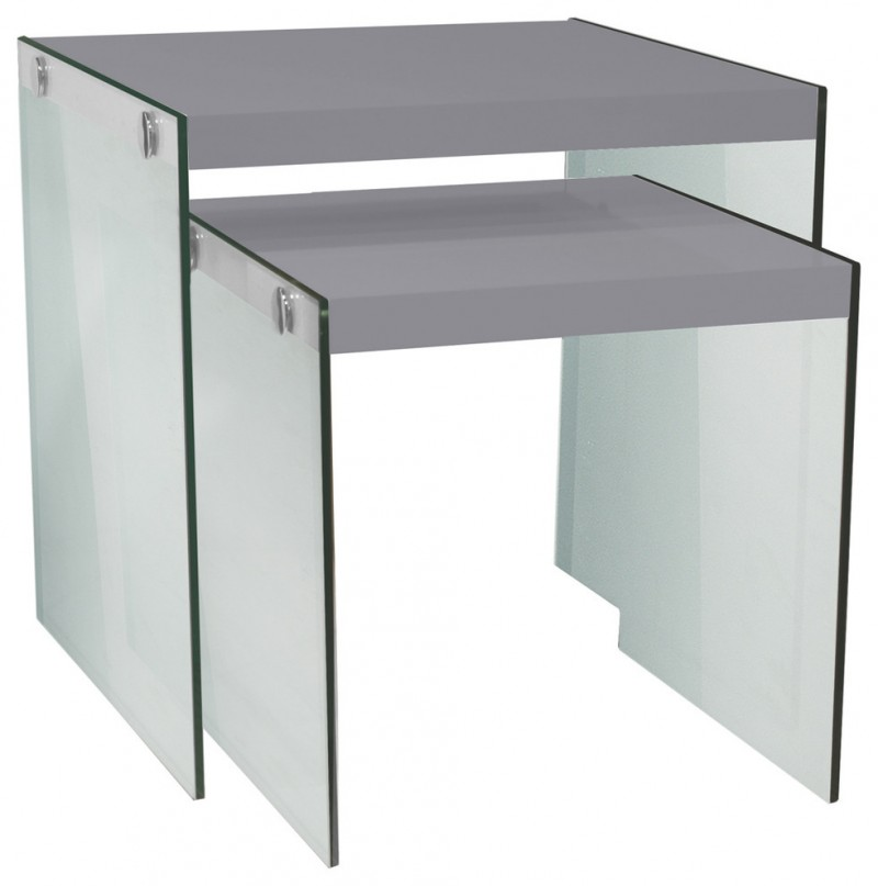glass modern simple nesting tables