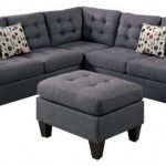 Grey Traditional Sectional Sofa With Matching Ottoman
