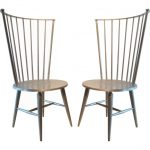 greyish brown modern windsor chair