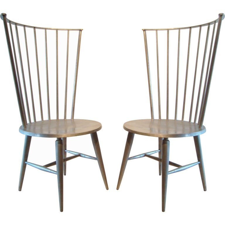 Beau Greyish Brown Modern Windsor Chair