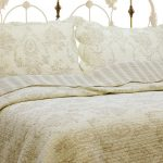 Imperial Cream Ivory Bedding Sets With Two Pillows