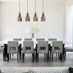 Long Square White Marble Top Dining Table X Stainless Steel Legs With 10 Chairs