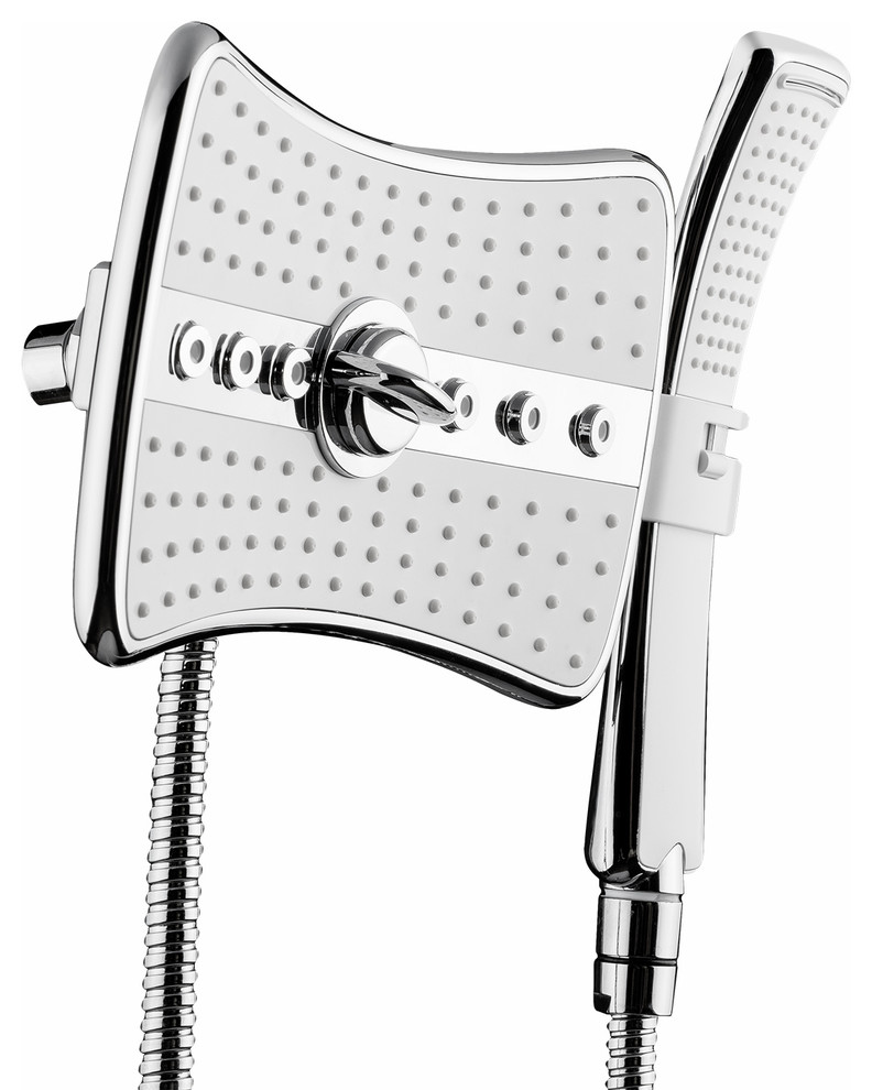 main shower coupled spray and jets and a removable hand spray head shower