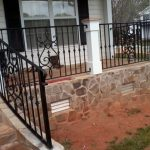 Mediterranean Black Wrought Iron Vertical Railing With Accent
