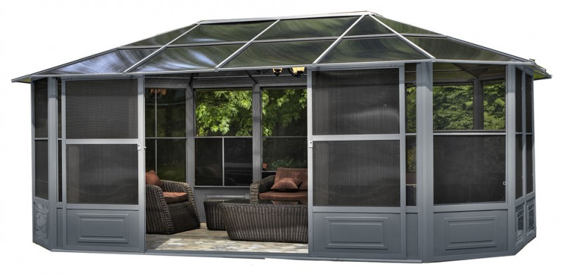 modern aluminum gazebo kit house like with sliding door