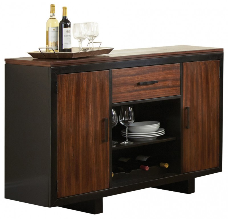 modern dark brown zebra wood cabinet