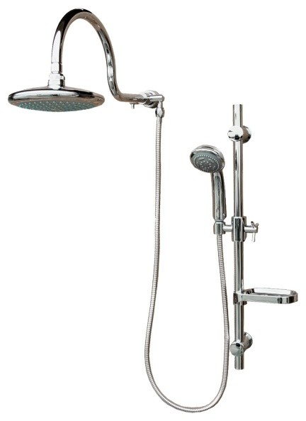 multiple shower with rain shower and hand shower