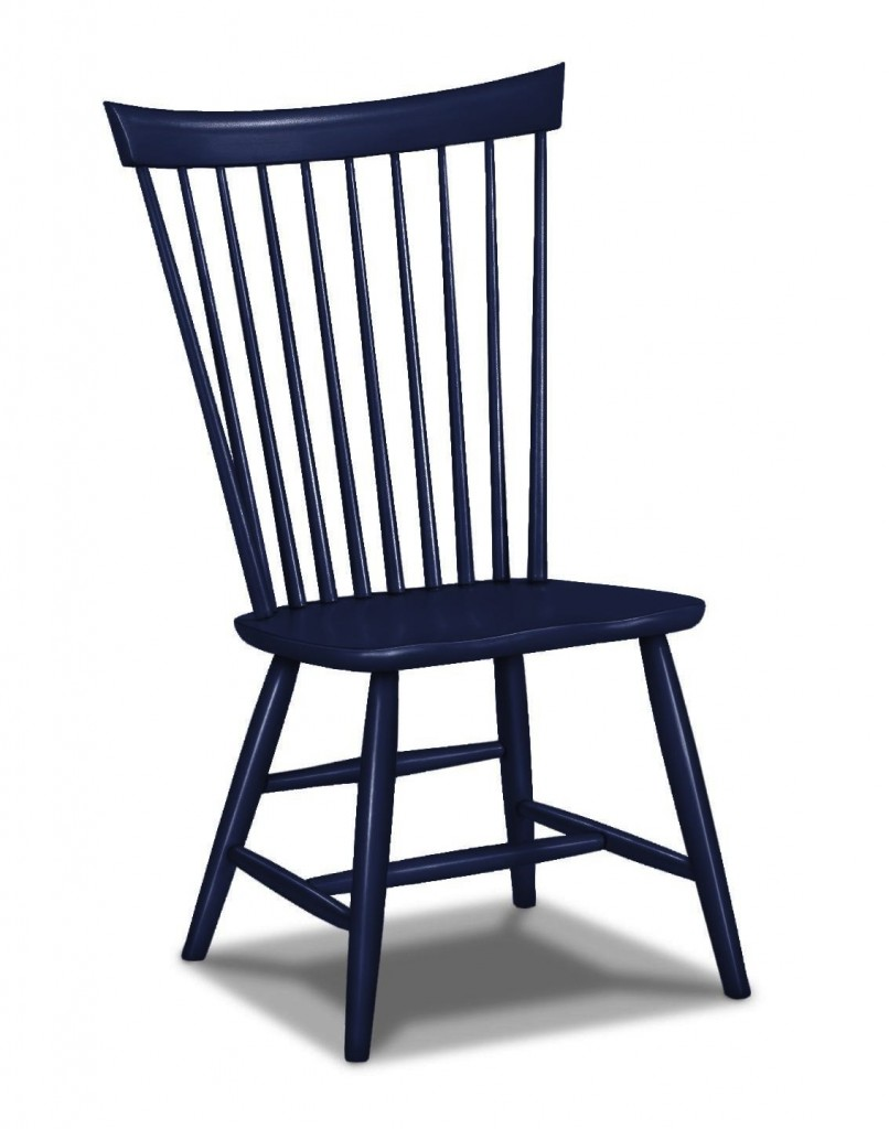 Lovely Navy Blue Traditional Based Windsor Chair