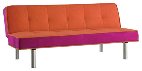 orange purple chair bed
