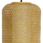 Oriental Bamboo Canning Pattern Woven Cylinder Lamp