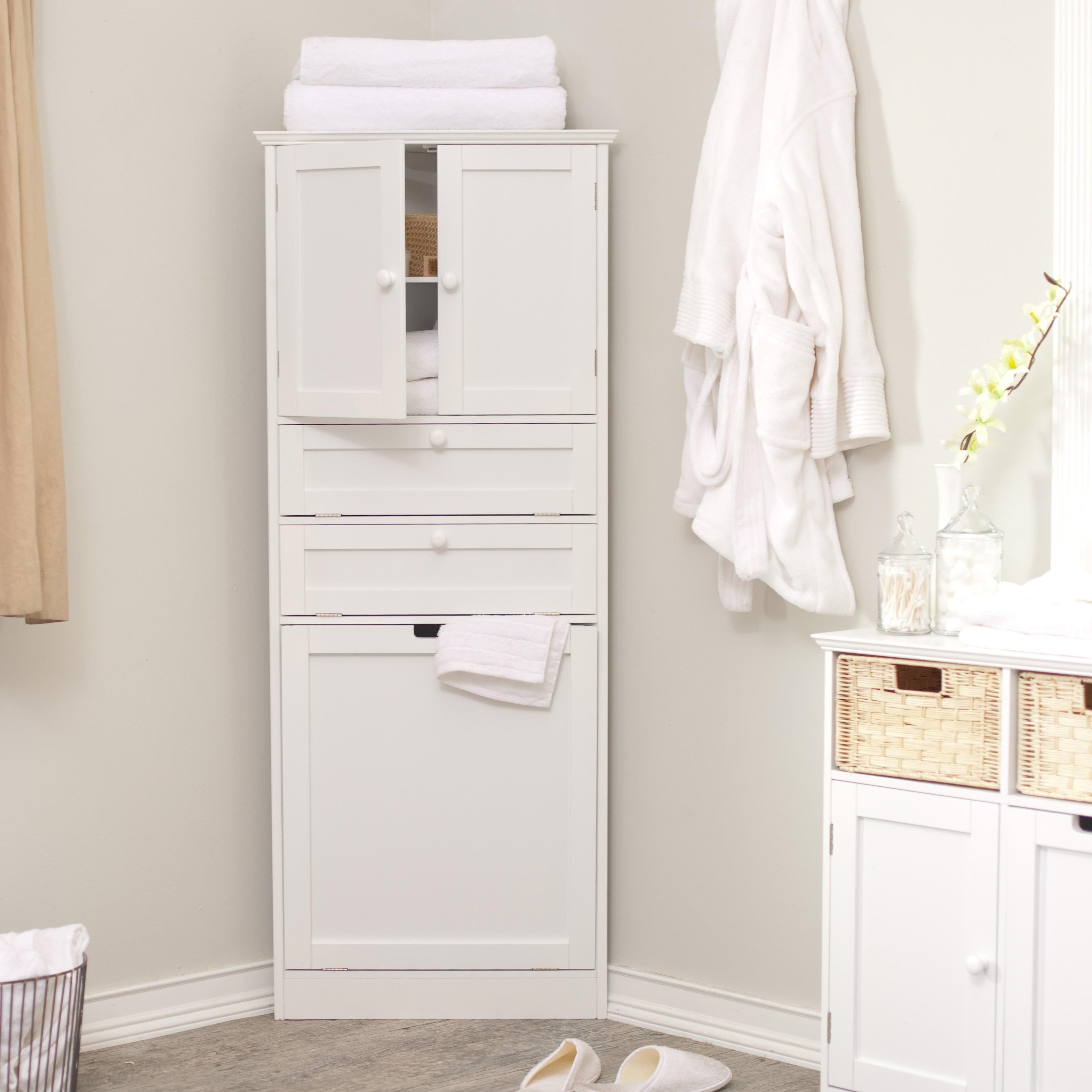 corner cabinet for your bathroom a to save space