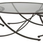 Round Glass Three Set Nesting Tables