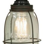 Rustic Jar Pendant Yellow Lamp