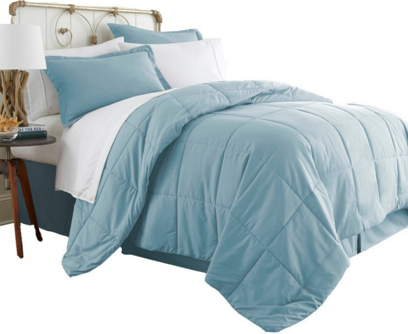 simple modern teal bedding