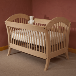 Simple Raw Wooden Small Baby Crib