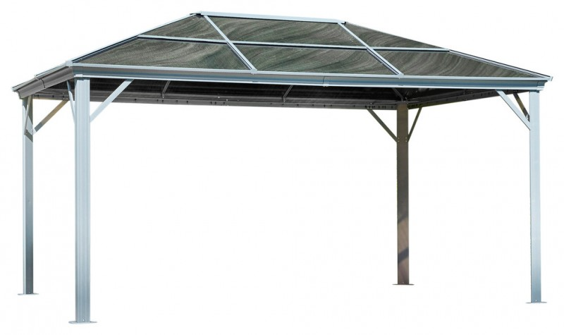 simplest gray roof aluminum gazebo kit