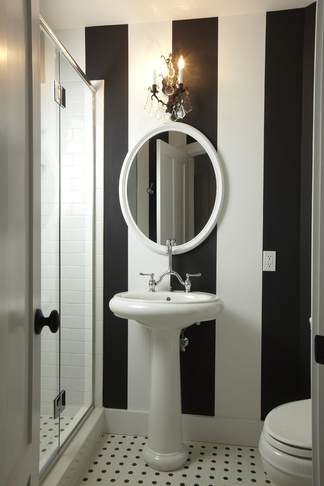 small bathroom remodel ideas faucet sink toilet glass door interesting lamp stripe pattern